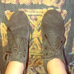 Toms Army Green Wedge Booties